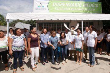 Compromiso cumplido, inaugura Laura Fernández el dispensario médico de Leona Vicario