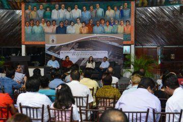 Presentan libro Actores de la Institucionalidad en Quintana Roo