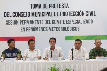 Instala Remberto estrada el consejo municipal de Protección Civil 2016-2018
