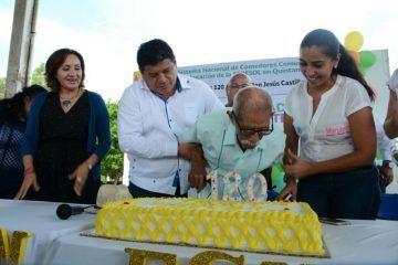 Celebra 120 años de vida Don Jesús Castillo Rangel