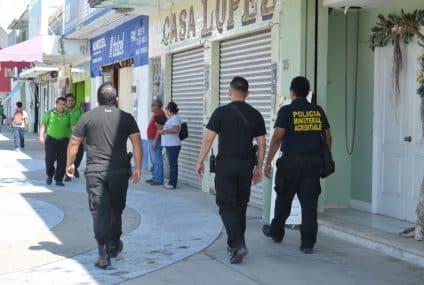 Policía ministerial implementóoperativo de prevención del delito en zona centro de Chetumal