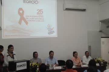 IEQROO Y CDHEQROO promueven un alto a la violencia contra las mujeres