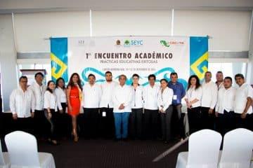 Todo un éxito El Primer Encuentro Académico organizado por el CECYTEQROO