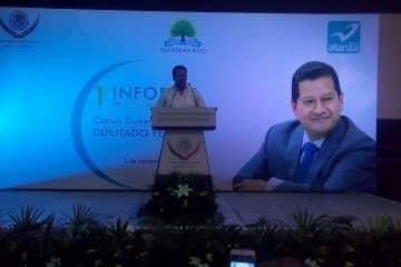Presenta el diputado Carlos Gutiérrez primer informe de labores