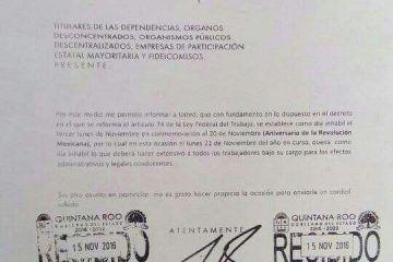 Aniversario de la Revolución Mexicana amarra lunes de puente para burócratas