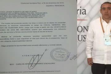 Fiscal General del Estado entrega su renuncia ante el Congreso