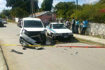 Accidente en Bacalar deja dos personas lesionadas