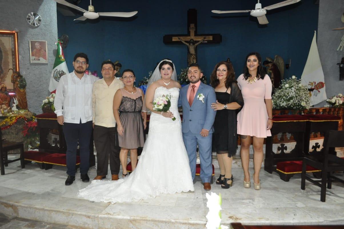 Con la familia Montero García.