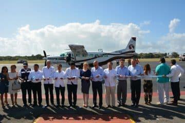Inauguración de vuelo comercial internacional entre Chetumal y Belice