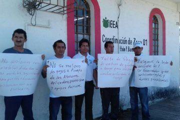 Trabajadores del IEEA exhiben incompetencia de Rafael Quintanar