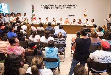 Respaldo total del Cabildo al  Plan Municipal de Desarrollo de Puerto Morelos 2016-2018