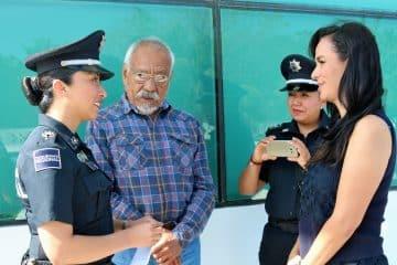 Estrecha Laura Fernández lazos de coordinación con la policía federal