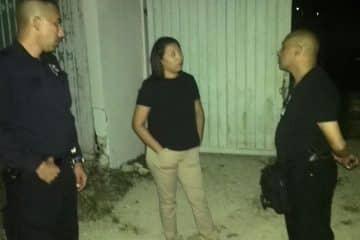 Paoly Perera pasa revista nocturna a los policías municipales