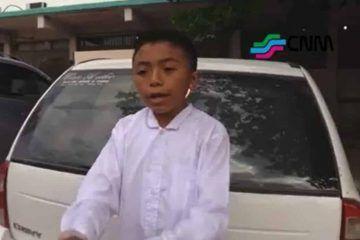 Niño de la zona maya hace una radiografía de nuestros corruptos gobernantes