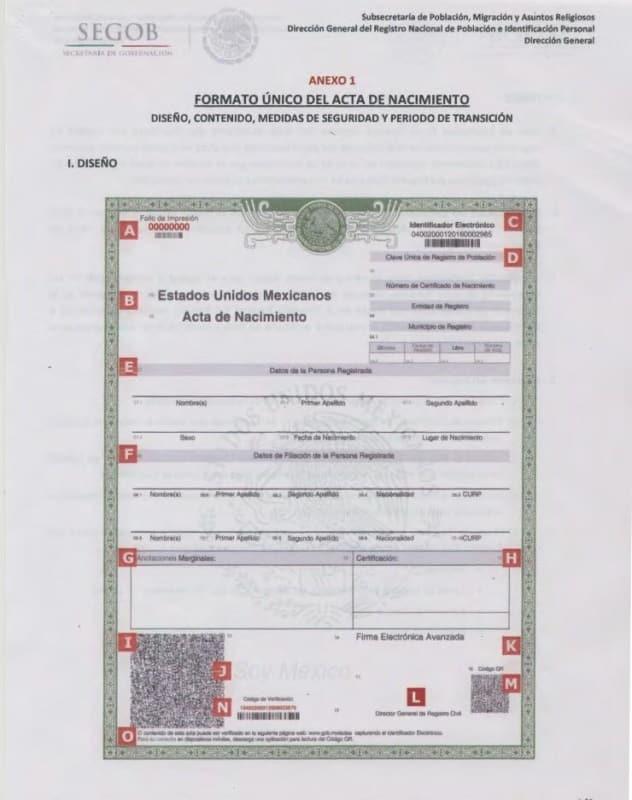 Perfecto Nuevo Certificado De Nacimiento Pa Adorno - Certificado de ...