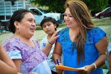 Habitantes de comunidades también tienen derecho a vivir en bienestar: Romi Dzul