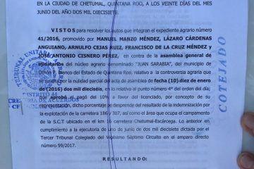 Echan por tierra las tranzas del ex Comisariado Ejidal de Juan Sarabia