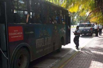 Policía cancunense busca mermar delincuencia con operativos al transporte público