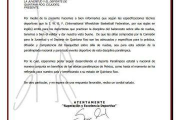 Selección de Básquetbol de Quintana Roo cuenta con sillas de ruedas avaladas internacionalmente