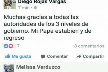 Policía Ministerial y Ejército, rescatan a Diego Rojas