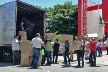 Bomberos de Cancún cierran su centro de acopio con 150 toneladas de ayuda recaudadas