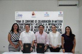 Firma Bacalar convenio con el IDAIPQROO; se suma a la transparencia
