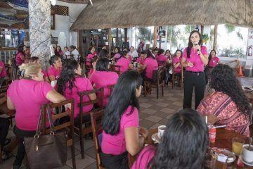 Participa Puerto Morelos en acciones de sensibilización sobre el Cáncer de Mama