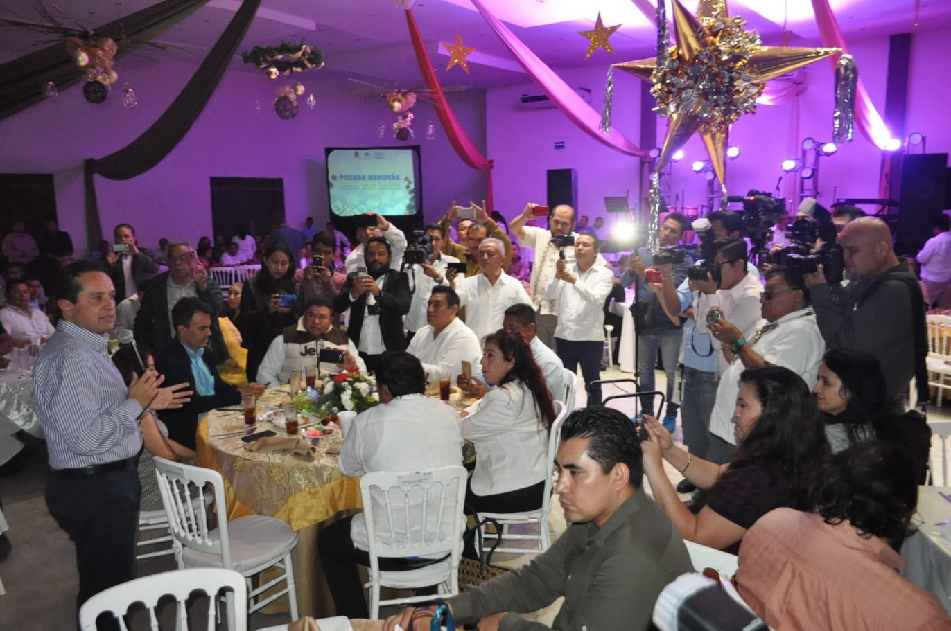 ((FOTOS)) Gobierno del Estado celebra posada para Medios de Comunicación de la zona sur