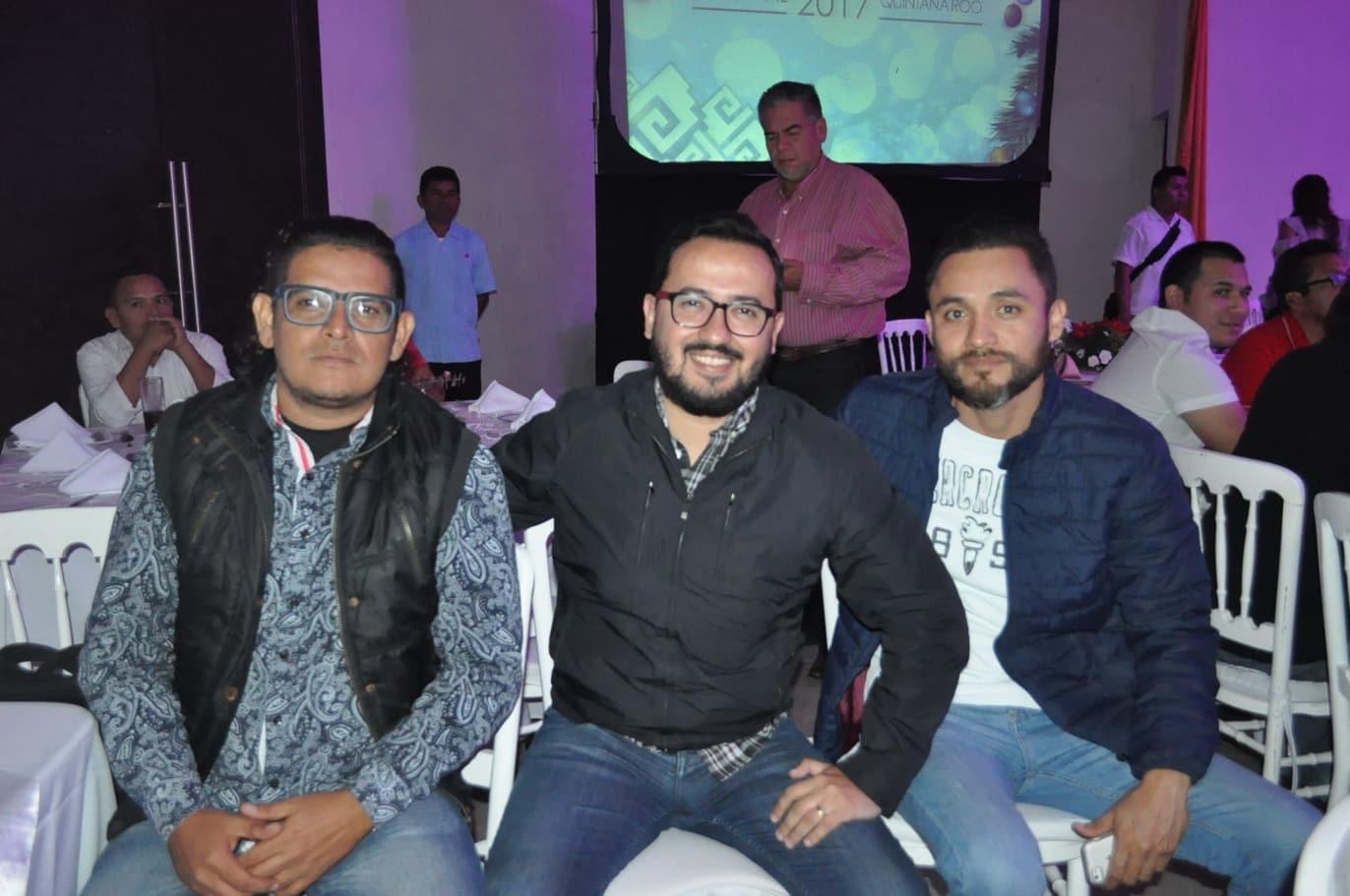 Eric Castillo, Miguel Fernández y José Ramos.
