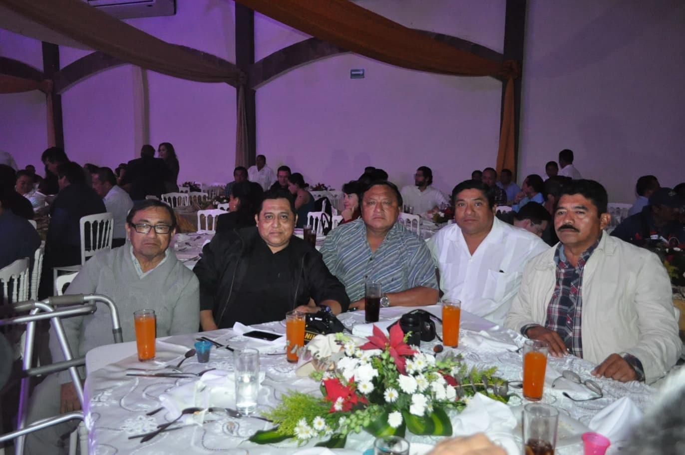 Carlos Colonia, Moisés Cante, Arsenio Chan, Francisco Uc y Juan Rodríguez.