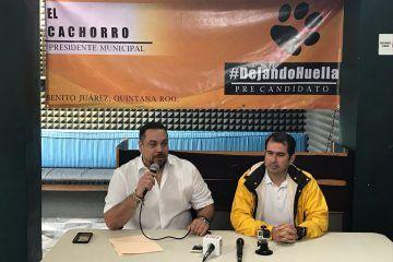 El 'Cachorro', se presenta como precandidato del PRD por Benito Juárez
