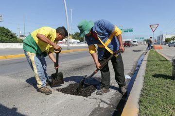 Repara gobierno solidarense baches en más de 7.9 km de vialidades
