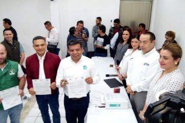 PRI, PVEM y Nueva Alianza registran solicitud de convenio de coalición ante el IEQROO