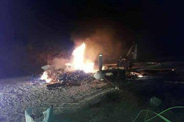 Otra avioneta quemada en el Distrito de Blue Creek