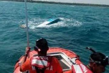 Asegura Marina naufragio de 300 kilos de cocaína
