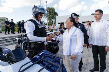 Cuadruplica gobierno de Solidaridad parque vehicular de Seguridad Pública