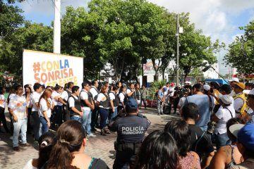 Jóvenes piden freno a la inseguridad en Cancún