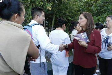 Con volanteo, inicia Mara Lezama campaña por Benito Juárez