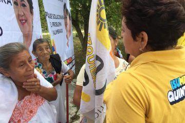 Sofía Alcocer hace compromiso de ampliación eléctrica y calles dignas para Benito Juárez