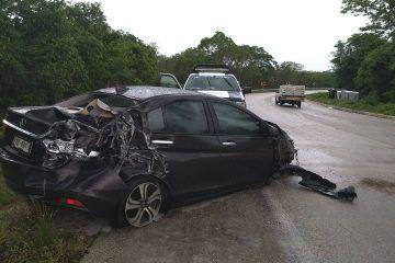 Curvas del Diablo, cobran triple accidente en el tramo Polyuc-Morelos