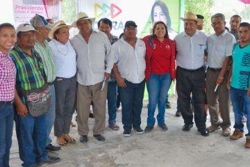 Compromete Cora Amalia trabajo y gestión en favor de comunidades de la Zona Limítrofe