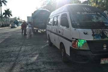 Autobús de Xcaret, quería hacer gala en pleno Centro Histórico de Valladolid
