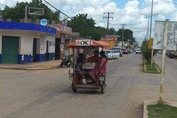 Servicio saturado y poco pasaje servicio moto taxis en José María Morelos