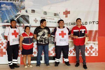 Instala Cruz Roja centro de acopio para damnificados de Chumpón