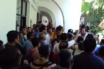 Se manifiestan policías de Benito Juárez