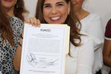 Avala IEQROO a Mara Lezama como alcaldesa electa de Benito Juárez