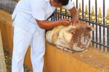 Familia Dzul Poot maestros en el tallado de madera