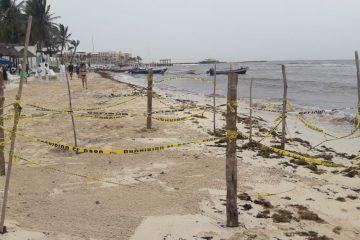 Socavón en Playa del Carmen se cerró solo