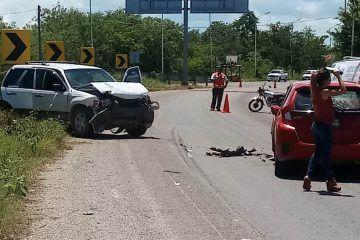 Accidente vehicular, seis lesionados y daños por 300 mil pesos