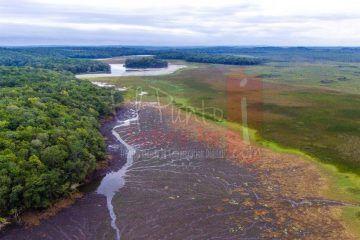 Socavones en la Laguna de Chacanbakam son por erosión del subsuelo
